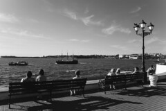 June (Alexander Oleynik) Tags: артбухта июнь relax summer blacksea seascape boat bench evening море bw