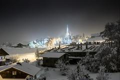 Combloux, église, 26 (Patrick.Raymond (3M views)) Tags: combloux hautesavoie montagne neige froid gel hiver nuit hdr nikon