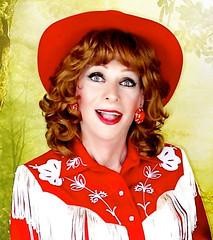 DSC06491A (msdaphnethos) Tags: redhead crossdresser transgender cowgirl daphnethomas portraiture