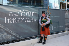 """""""Find your inner harbor"""" (jenny_guo) Tags: people xpro2 x fujinon 18mm f2 music artist outdoor boston bagpipe"""