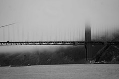 Find me in the fog (ahmed_alkhayaly) Tags: june blackandwhite summer foggy goldengate sanfrancisco california