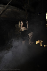Elle smoke (johnhontai) Tags: shortblackdress blackdress locationshoot photoshoot highheels stunningmodel shortdress photography wortleyforge pose chains smoke blondes blondehair elle femalemodel model female d750 nikon johnlittlephotography kempophotography