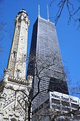 Twins (cmu chem prof) Tags: chicago cookcounty illinois chicagowatertower nationalregisterofhistoricplaces michiganavenue magnificentmile johnhancockcenter bluesky structuralexpressionism