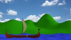 Viking 2 (Ian Waller Photography) Tags: blender 3d render viking longboat