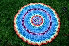 2017.06.27. part 17 3159m (villanne123) Tags: 2017 progressing mandala mandalamadness crochetmandala crochet crocheting villanne virkattua virkattu virkattumandala schachenmayrwool125 part17done