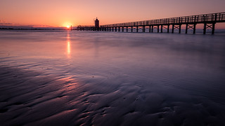 Faro Rosso at sunrise - Lignano Sabbiadoro, Italy - Seascape photography