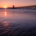 Faro Rosso at sunrise - Lignano Sabbiadoro, Italy - Seascape photography thumbnail