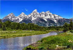 A Little Bliss ... (Aspenbreeze) Tags: grandtetonnationalpark tetonmountainrange tetons mountains wyominglandscape mountainscape landscape schwabacherslanding water reflection snowypeaks mountainpeaks nature rural bevzuerlein aspenbreeze moonandbackphotography