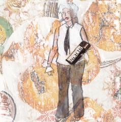 "# 133 (2017-06-25) (h e r m a n) Tags: ""studiodebakkerij"" rotterdam bergweg gistpodium muziek music musica muzika herman illustratie tekening drawing illustration dagboek diary journal gitaar guitar 10x10cm tegeltje karton carton cardboard vrouw woman yesdarling minkquispel gigimarvelous casio vocals"