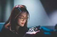 Ricci (Randy Wei) Tags: mitakon speedmaster zhongyi lowlight fujifilm portrait profile people girl led light palm warmth