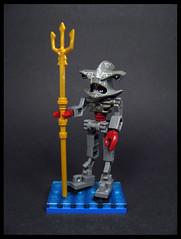 Atlantean Imperial Gaurd (Karf Oohlu) Tags: lego moc minifig hammerheadshark atlantean guard trident claw