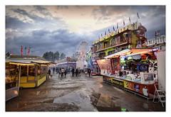fun times (sigi-sunshine) Tags: jahrmarkt kirmes fairground spas fun strasbourg strasburg bunt colorful regen rain wolkig cloudy wolken dämmerung schützenfest