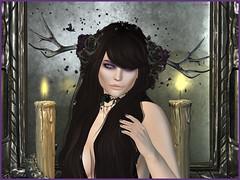 Enchanted Nightshade - Midsummer Enchantment (Venom Zanzibar) Tags: sl secondlife darkpassions event midsummer enchantment goth avant garde oubliette zibska koffinnails nails hunt gown