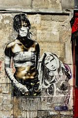 Woman # 1 (JuliSonne) Tags: streetart urbanekunst mauer wall graffiti colors scene urban pasteup stencil street eddiecolla