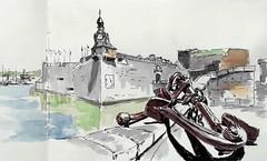 Concarneau (m.JaKar) Tags: aquarelle croquis carnetdevoyage dessinurbain france insitu sketchcrawl usk rencontrenationale urbansketchers