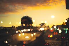 Thibaud (Louis Dazy) Tags: double exposure sunset sunrise clouds portrait boy youth young guy silhouette paris bokeh street