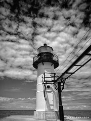 Outer Light, St. Joseph (mswan777) Tags: lighthouse pier lens light cloud st joseph lake michigan shore great lakes scenic nikon d5100 sigma 1020mm sky steel building tower glass elevated walkway