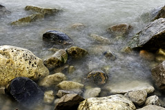 Huron Rocks (craig_schenk) Tags: winner lake lakehuron water waves multipleexposure slowshutter slowshutterspeed rocky rock rocks huron ontario ontariocanada landscape nature nikond300 nikon naturephotography iprressionistic motionblur blurredwater fineart art artistic