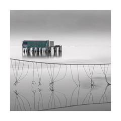 Networking (Nick green2012) Tags: square minimal fishing hut venice lagoon nets colour