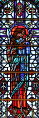 Apostle to India (Lawrence OP) Tags: apostles saints stthomas window stainedglass sanfrancisco spear