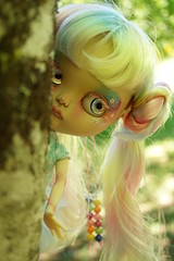 #1705...Twinkle can see you! (Lindy Dolldreams) Tags: blythedoll girl fantasy fairy sparkle twinkle stars forest aka7blythe starrytaledolls