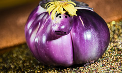 """hope I'm not too """"appetizing""""! (Dotsy McCurly) Tags: food eggplant purple stilllife bokeh photoshop face eyes nose mouth expression nikond750 newjersey 7dwf crazy appetizing crazytuesdaytheme"""