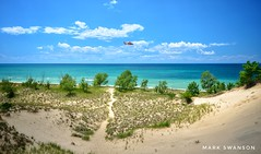 Coast Guard over Grand Mere (mswan777) Tags: shore coast dunes sand beach lake michigan scenic sky cloud tall seascape guard stevensville helicopter nikon d5100 sigma 1020mm outdoor water summer trail grass