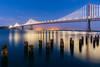 San Francisco Bay Bridge (Aaron Sesker) Tags: bay bayarea blue bridge bridges ca california longexposure night sanfrancisco sf water