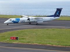 Bombardier Dash 8 approaching Horta 170616_029 (jimcnb) Tags: 2017 juni urlaub azoren azores açores faial horta airport castelobranco bombardier dash 8 cstrf sata