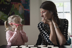 Family connection (' A r t ') Tags: denmark grandma ava ninatheilland briller lyserød pink eyes contact glasses love family granddaughter understanding