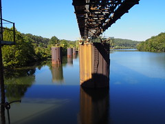 mine loadout (photography_isn't_terrorism) Tags: river monongahelariver wv westvirginia coal abandoned moorings reflection rust rusty rusted