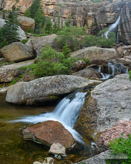 Three Tiered Falls (kevin-palmer) Tags: bighornnationalforest bighornmountains paradisefalls wyoming stream creek flowing water northbeavercreek july summer nikond750 tamron2470mmf28 stitch circularpolarizer