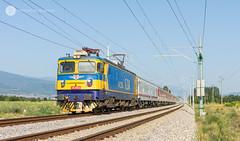 150 km/h (Konstantin Planinski) Tags: bdz 46235 46 235 electroputere craiova asea le5100 060ea bulgarian state railways passenger train fast speed 150 km h pazardzhik septemvri