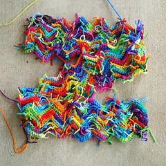 The scrap yarn ripple blanket gets even scrappier (crochetbug13) Tags: crochet crocheted crocheting crochetrippleafghan crochetrippleblanket crochetripplethrow scrapghan yarnscrapcrochet crochetblanket texturedcrochetblanket usewhatyouhave texturedcrochetthrow texturedcrochetafghan