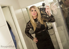 Saturday night, Manchester, the LBD obsession continues! (Ruby & Rouge x) Tags: dress manchester sparkle ruby rouge tv tranny crossdress transvestite tights wolfords heels makeup hotel mirror gg rougeandruby canal street st olympus pen f penf selfie lbd little black jane norman