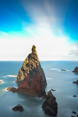 Triangle (Rico the noob) Tags: dof rock landscape nature d500 outdoor madeira stones clouds longexposure 2017 ocean multipleexposure published outlook water sky sea 1120mm coast cliff 1120mmf28