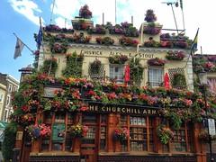 The Churchill Arms (brimidooley) Tags: london uk england greatbritain britain city citybreak travel pub nottinghill kensington flowers churchill gb europe unitedkingdom londra londres ロンドン 런던