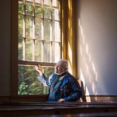 An Opening (DaveLawler) Tags: man opening window sunlight windowlight glass beams panes suit blue osv osvorg museum sturbridge village massachusetts newengland