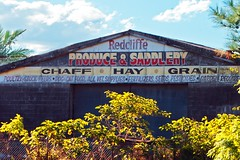 Redcliffe Produce and Saddlery (Leonard J Matthews) Tags: redcliffe produce saddlery rothwell queensland australia mythoto sign retail chaff hay grain