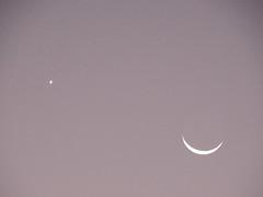 Moon & Venus (garygaldamez) Tags: photography moon star 写真 黒と白 モノクロ写真 エルサルバドル elsalvador