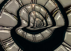 Warped Time (Zeek_) Tags: time spiral clock roman numerals bent abstract shiny