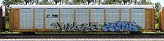 Wasp/Levis (quiet-silence) Tags: graffiti graff freight fr8 train railroad railcar art wasp levis mfk syw autorack ns norfolksouthern ttgx704459