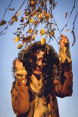 DSC_0314 (estebanolivaresmuñiz) Tags: autumn winter girl tree street streets leafs leaf chile sun