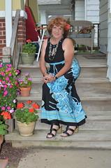 Dressing For Effect (Laurette Victoria) Tags: maxi dress sandals porch summer laurette woman auburn necklace