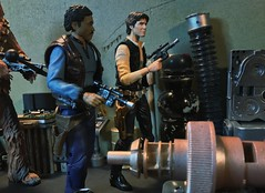 Lando: Han are you sure your contact was right?  Han: Yes. This is an easy score. Relax what could go wrong?  Lando: Everything. Han don't let me down old buddy. (chevy2who) Tags: starwarsblackseries inch six figure action toyphotography seriestoy black solo han lando wars star