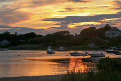 20170706-Sunset at Oyster Pond (ChathamGardens) Tags: oysterpond sunset capecod chathamma