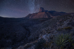 Desert Beacon (brentgoesoutside.com) Tags: 2017 d610 desert elcapitan february guadalupemountains landscape milkyway mountain nationalpark nature night nikon sky stars texas travel wideangle winter