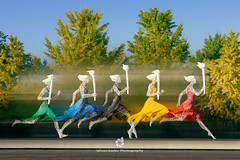 Running Wire Women (fesign) Tags: 2008summerolympicsbeijing animated asia beijing center china color colorful five horizontal olympic olympicgreen park run running sculpture skirts sport sports statue theolympicgames torch travel tree wire women