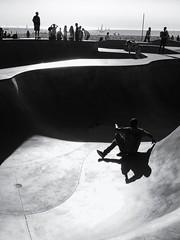 Falling Down (Feldore) Tags: venice beach skateboard skateboarding falling down fall california feldore mchugh em1 olympus 1240mm black white high contrast