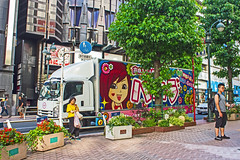 Lorry トラック (Shutter Chimp: Im back!) Tags: vehicle transport japan tokyo shibuya street photography road people building ビル 自動車 道路 道 町 東京 渋谷 人 人々 日本 lorry truck トラック 木 tree